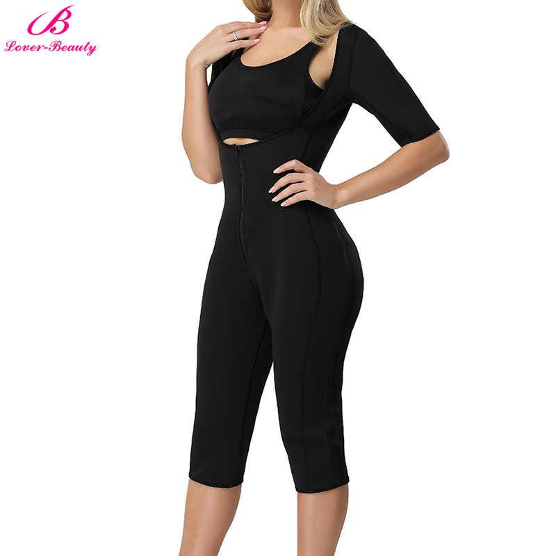 cf24f3941a ... Lover-Beauty Sauna Workouts Fajas Shapewear Full Body Shape Sweat Hot  Slimming Neoprene Suit Waist ...