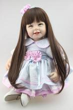 Factory Supply 22 inches Baby Reborn Kits Adoption Simulation Play House Artificial  Reborn Doll Clothes Educational Toys