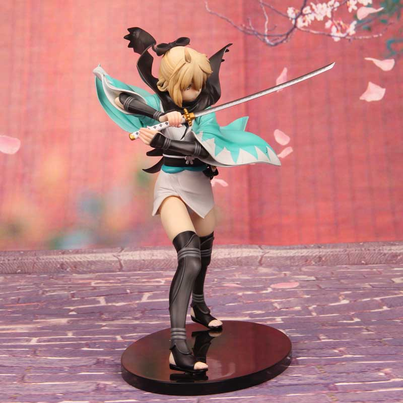New Hot Anime Around game model set doll ornaments Fate Saber Okita Souji Figure Toy Doll Ornaments Realistic Toy TY cute resin little baby figure desk doll ornaments 4 figure set
