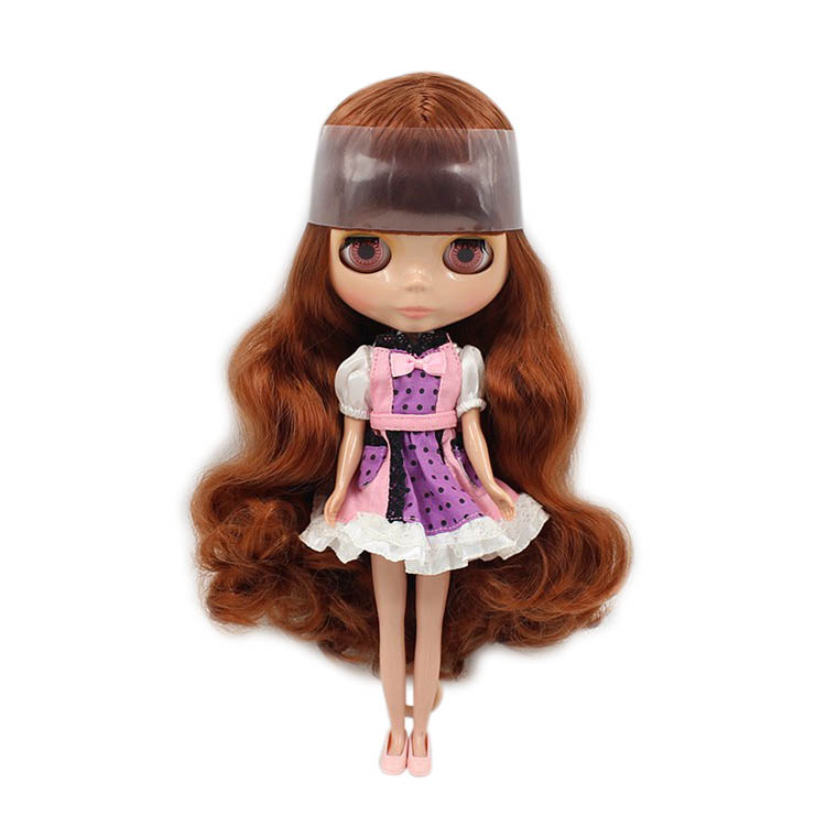 Dolls & Stuffed Toys Supply Blyth Nude Doll 1/6 Brown Long Wavy Hair With Bang Normal Nody Tan Skin 30cm Bjd Suitable For Diy No.280bl0623 Gift