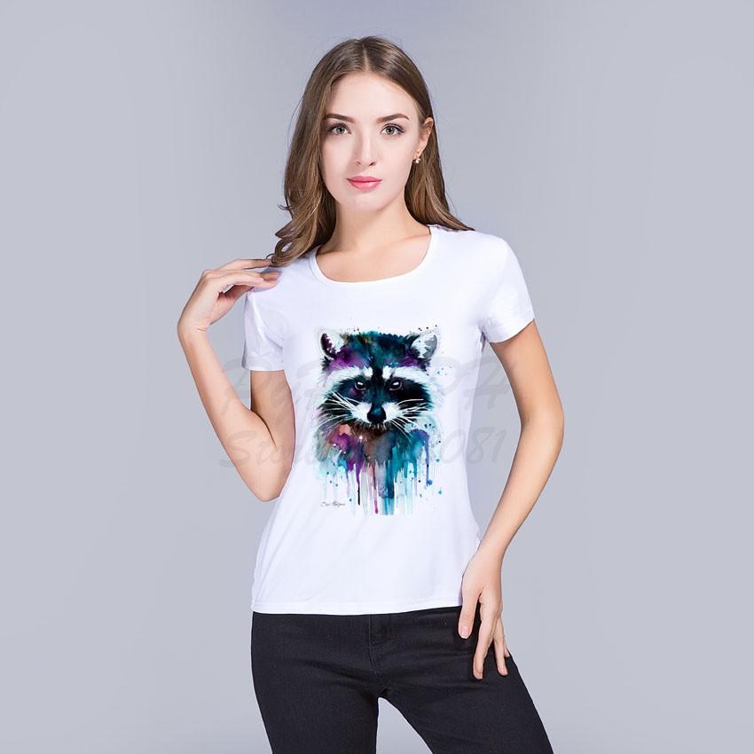 HTB1vOPKOVXXXXbYXVXXq6xXFXXXl - T shirt for women Raccoon O-neck short sleeved