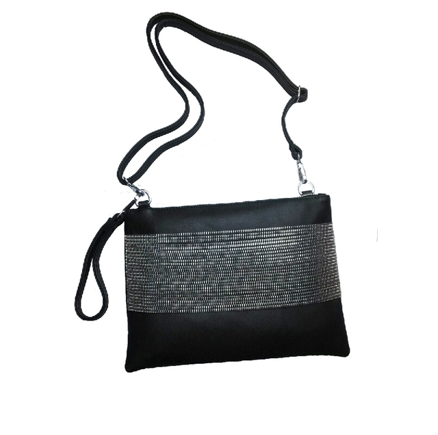 Leather Clutch with Chains