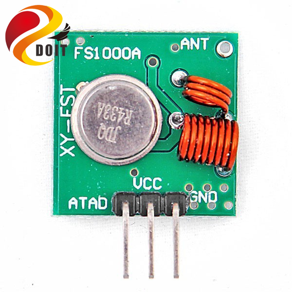 US $0 71 5% OFF|DOIT 1 Pair 433Mhz RF Transmitter and Receiver Module Link  Kit for Arduino/ARM/MCU WL DIY Electronic Kit-in RC Cars from Toys &
