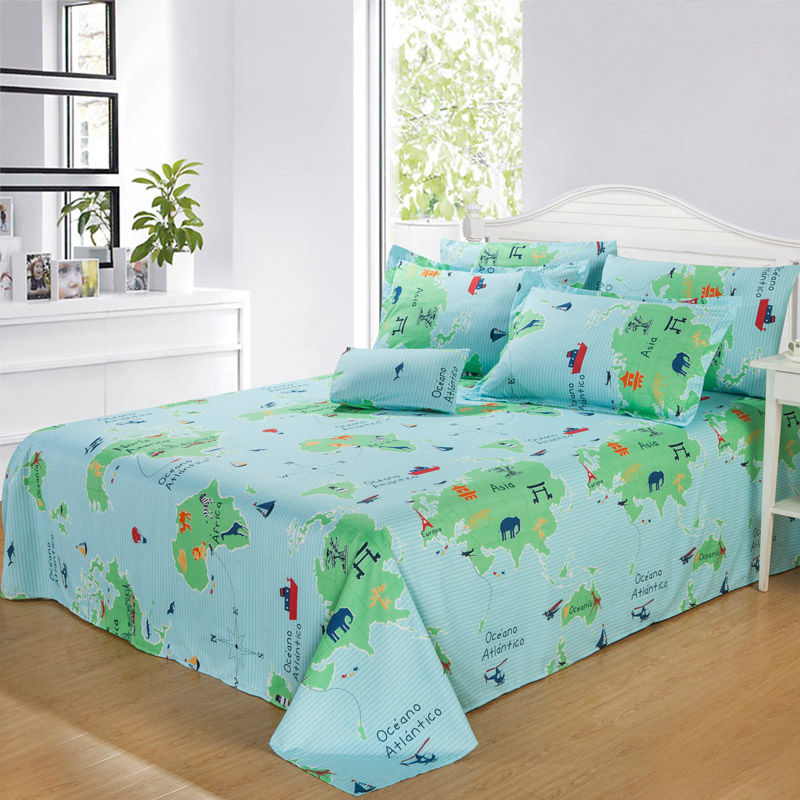 Bedding sets 4pcs duvet cover sets cartoon world map cartoon bedding sets 4pcs duvet cover sets cartoon world map cartoon children bedding set twin full queen king size freeshipping in bedding sets from home garden gumiabroncs Images