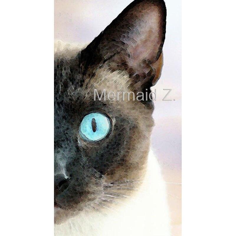 Peint à la main peinture à l'huile abstraite aquarelle siamois chat Art peintures pour salon mur toile peinture cuadros decoracion