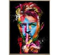 Художник ручной росписью высокое качество абстрактный Дэвид Боуи портрет маслом настенная живопись рисунок лица Картины Home Decor