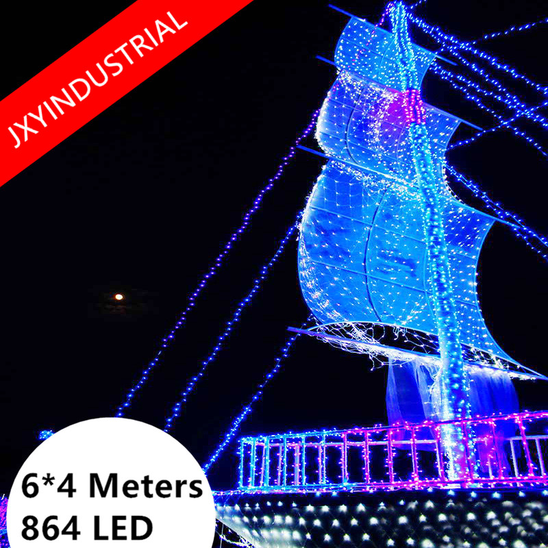 Net Sring lights 6m*4m 860 LED AC220V Fairy Twinkle Lamp Garland for Festival Party Holiday Wedding Christmas Decoration 10m 100 led 110v 8 mode fancy ball lights decorative christmas party festival twinkle string lamp strip rgb us plug