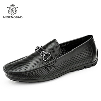 NEEDBO New Breathable Men S Casual Car Driving Shoes Men Loafers High Quality Genuine Leather Shoes