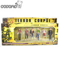Resident Evil Zombie Figura de Acción de The Walking Dead Rigor Mortis terroristas peligrosos Modelos Muñecas cadáver TV Juego Juguetes Relacionados Con caja