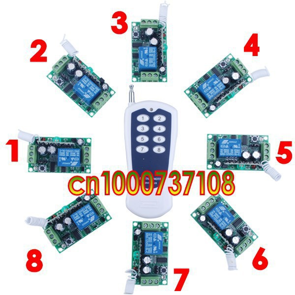 Free shipping wireless remote control switch system 12V 1ch 315mhz/433mhz free shipping dc12v 1ch wireless remote