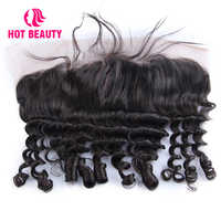 Hot Beauty Hair 4*13 Lace Frontal Funmi Ocean and Spiral Curl Human Hair Frontal Brazilian Remy Hair Pre Plucked With Baby Hair