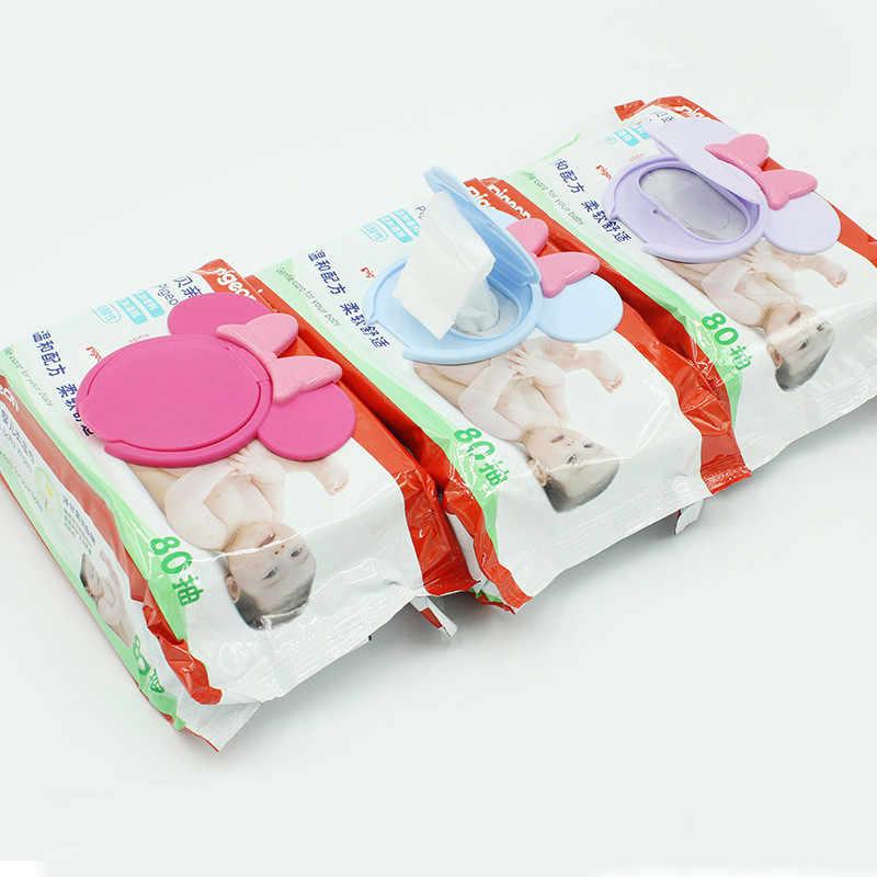 Детские влажные салфетки с крышкой, детские влажные салфетки, переносные детские влажные ткани с крышкой, Мультяшные влажные салфетки, влажная Крышка для салфеток, полезные аксессуары