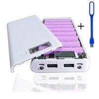 20800mAh DIY Battery Bank Kits 8pcs 2600mAh 18650 Batteries with Power Bank Backup 18650 Battery Charger Holder Box Case
