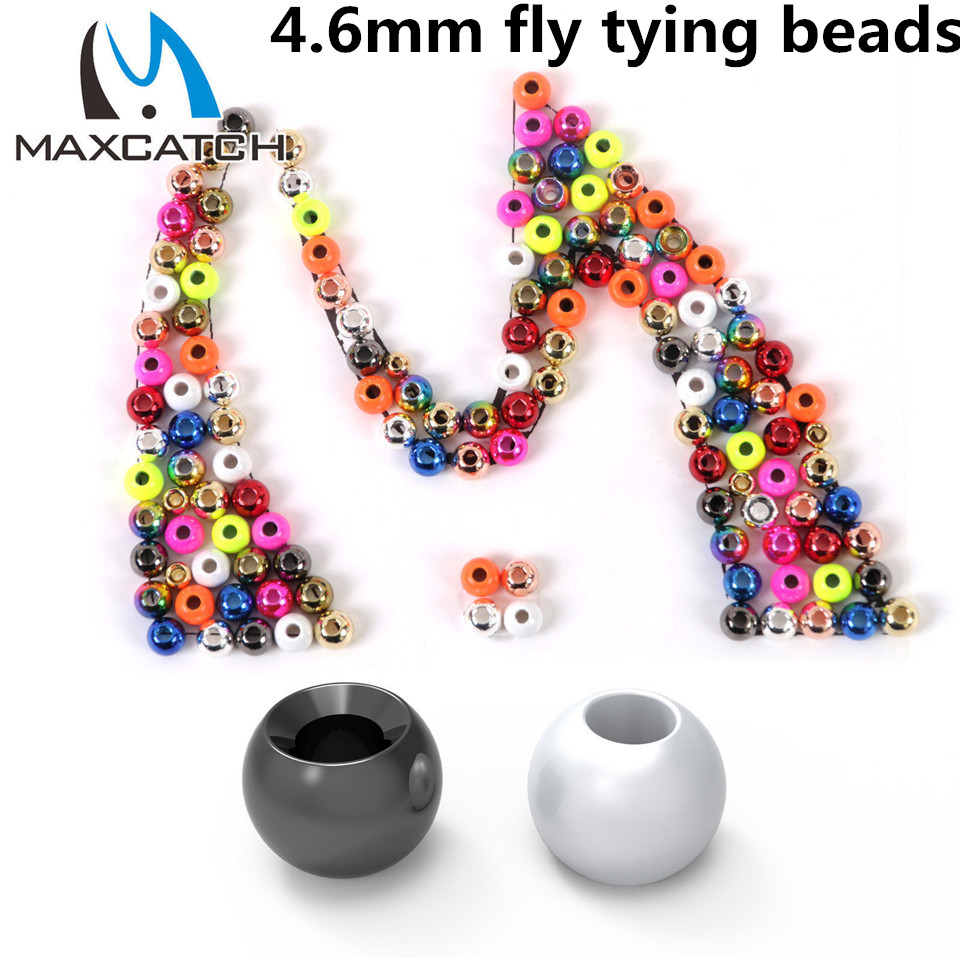 Maximumcatch Fly Tying Beads 25 Pieces 4.6 MM Tungsten Fly Nymph Ball Beads Fly Tying Material