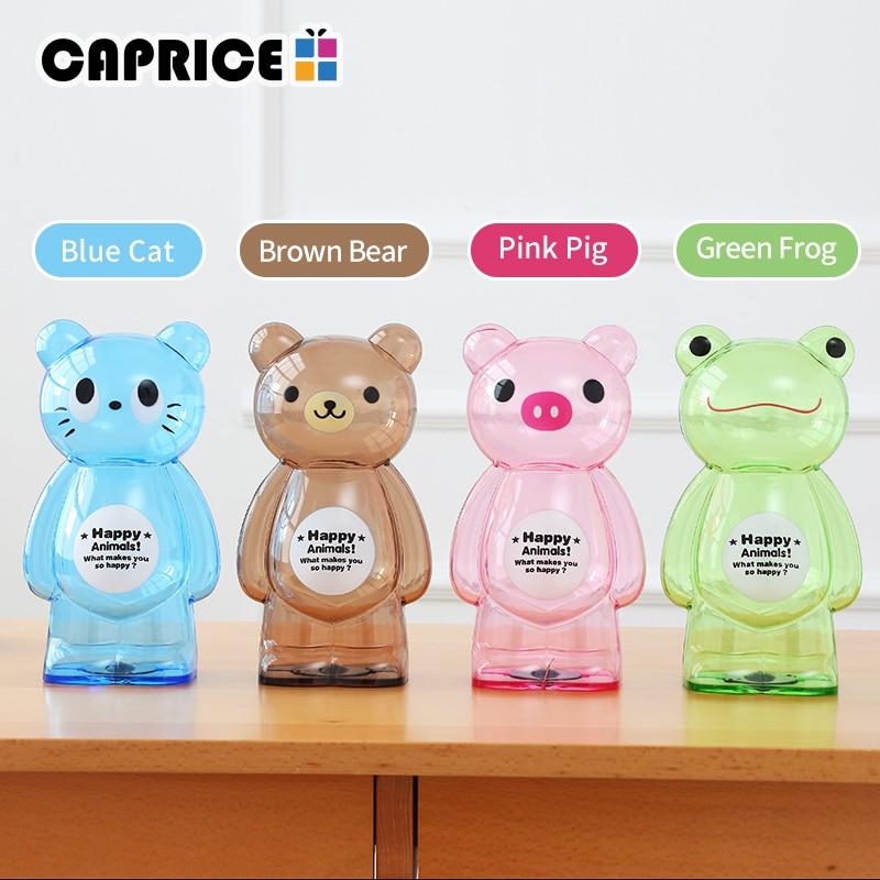 Bear Money Box Plastic Coin Saving Piggy Bank Transparent Candy Storage Safe Box Child Kids Cash for Deposit Home Decor AP0728