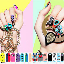 Abstract Fashion Style Nail Art Sticker Patch 15 Style Multi-pattern 14pcs/set High Quailty Foils Decals Manicure Makeup Tools