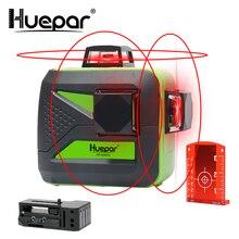 Huepar 12 линий 3D перекрестный лазерный уровень Self-Leveling 360 горизонтальный и вертикальный крест супер мощный красный лазерный луч линии