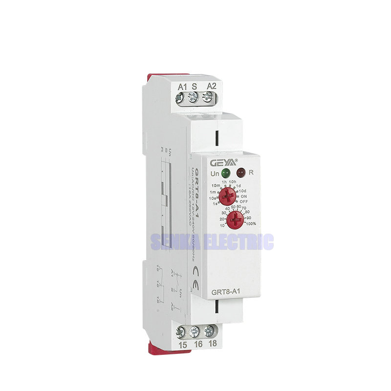 Single Phase Two Knobs Timer Relay 1 Group DPDT 0.1S-10D Power ON OFF Auto Time Delay Relays