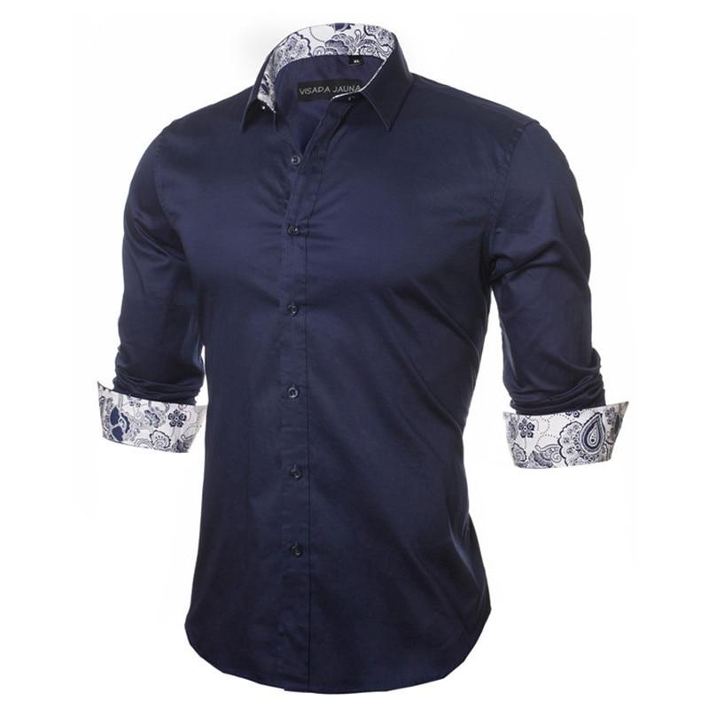 VISADA JAUNA Heren Shirt 2017 Nieuwkomers Mode Casual Stijl Lange - Herenkleding - Foto 6