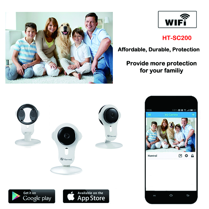 ФОТО Homtrol Mini IP Wifi Camera 720P Megapixel Real Time P2P Plug and Play Wireless Home Security Network Cube IP Camera