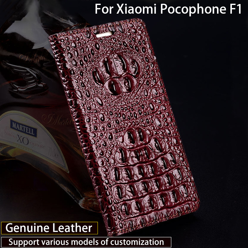 Luxury Phone Case For Xiaomi Pocophone F1 Case Crocodile Back Texture Cover For A1 A2 Lite Max 2 3 Mix2s for Redmi Note 5 Case