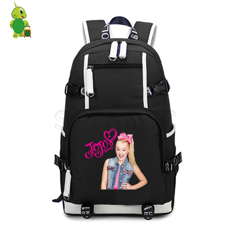 Popular Star Jojo Siwa Backpack Canvas School Bags For Teenage Girls Boys Laptop Backpack Large Capacity Travel Shoulder Bags