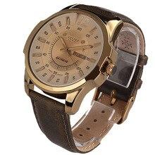 Original de Moda de lujo JULIUS relojes Deportes de Los Hombres correa de Cuero Genuino Macho Debe de Cuarzo reloj de pulsera impermeable JAH-017