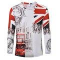 2016 новые поступления марка одежды футболка homme мода 3D напечатаны игрушки футболка свободного покроя с длинным рукавом о-образным шею мужчины футболки