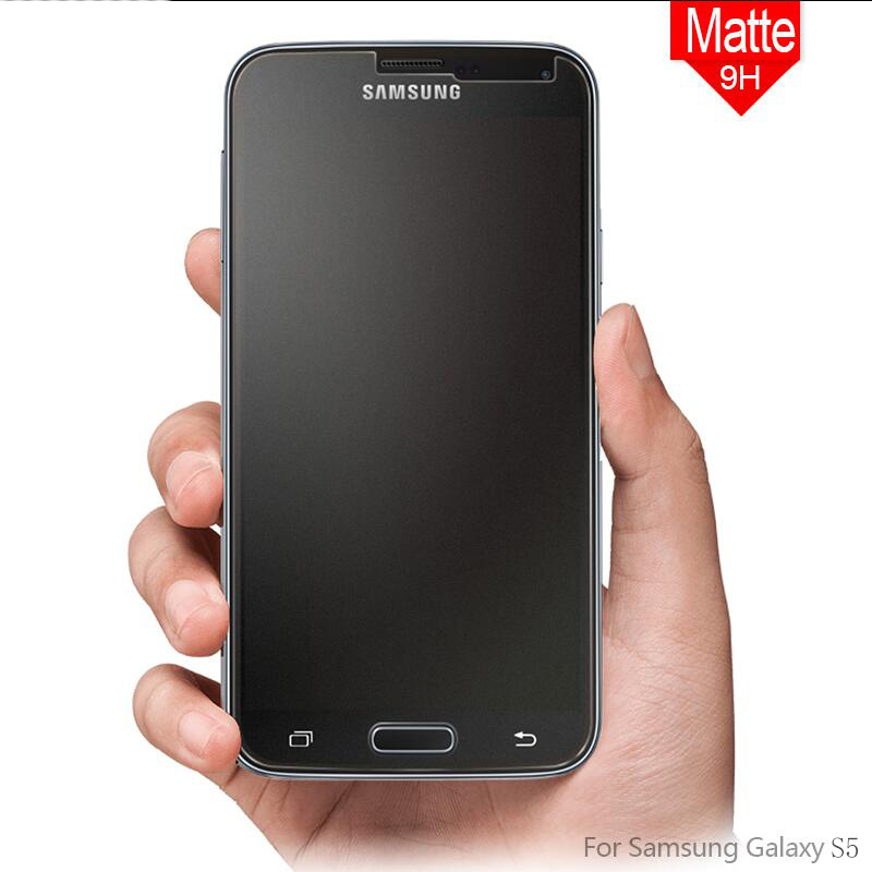 No Fingerprint Matte Tempered <font><b>Glass</b></font> Screen Protector for <font><b>Samsung</b></font> Galaxy S4 S5 S6 S7 Note <font><b>3</b></font> 4 5 J5 J7 2016 Antiglare Frosted Film image