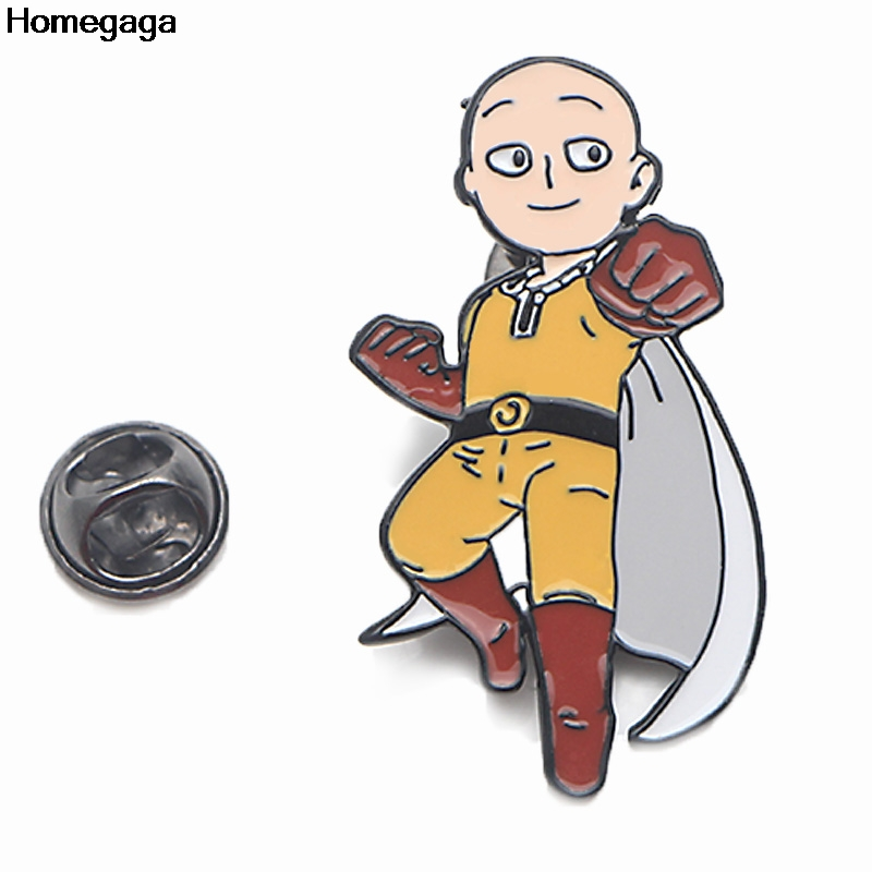 Homegaga ONE PUNCH MAN Pins for men women para Shirt Charm Coat insignia Clothes backpack Accessory Badges Brooches D2073 in Badges from Home Garden