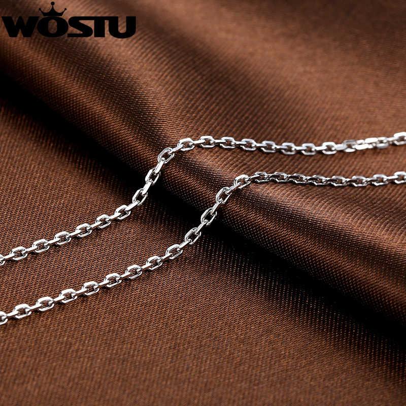 Wysokiej jakości srebra próby 925 1.8mm łańcuchy naszyjniki Fit dla wisiorek urok dla kobiet mężczyzn luksusowe S925 biżuteria prezent DXA007