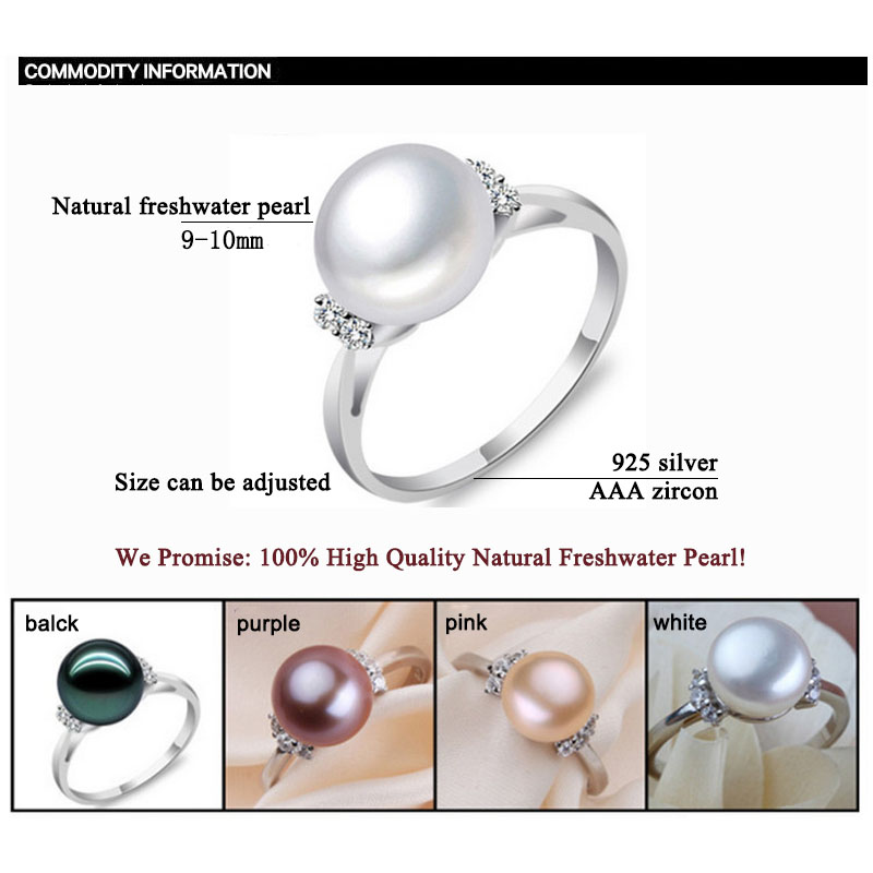 ZHBORUINI μόδα μαργαριτάρι δαχτυλίδι - Κοσμήματα μόδας - Φωτογραφία 6