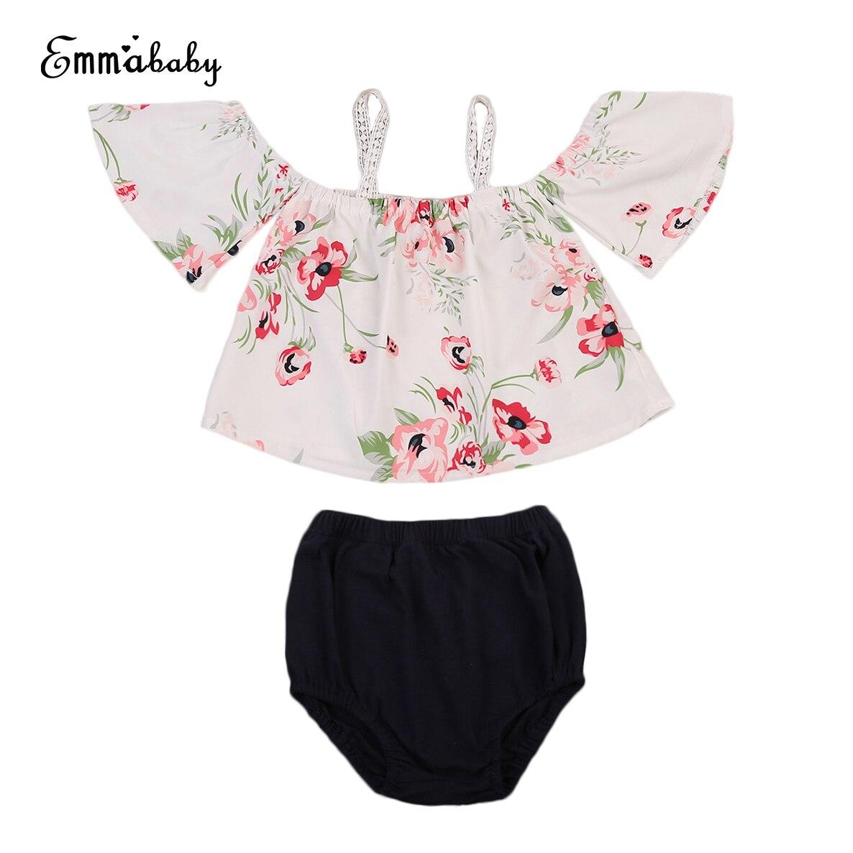 2018 New Summer Cute Babies Floral Clothes Set Newborn ...