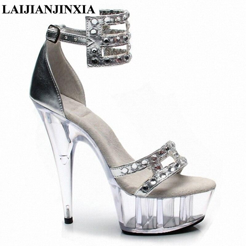 Laijianjinxia Night Club Women Sexy Straps Dance Shoes 15cm High Heels Platform Dancing Shoes Sandals Pole Peep Toe Dance Shoes Orders Are Welcome. Office & School Supplies