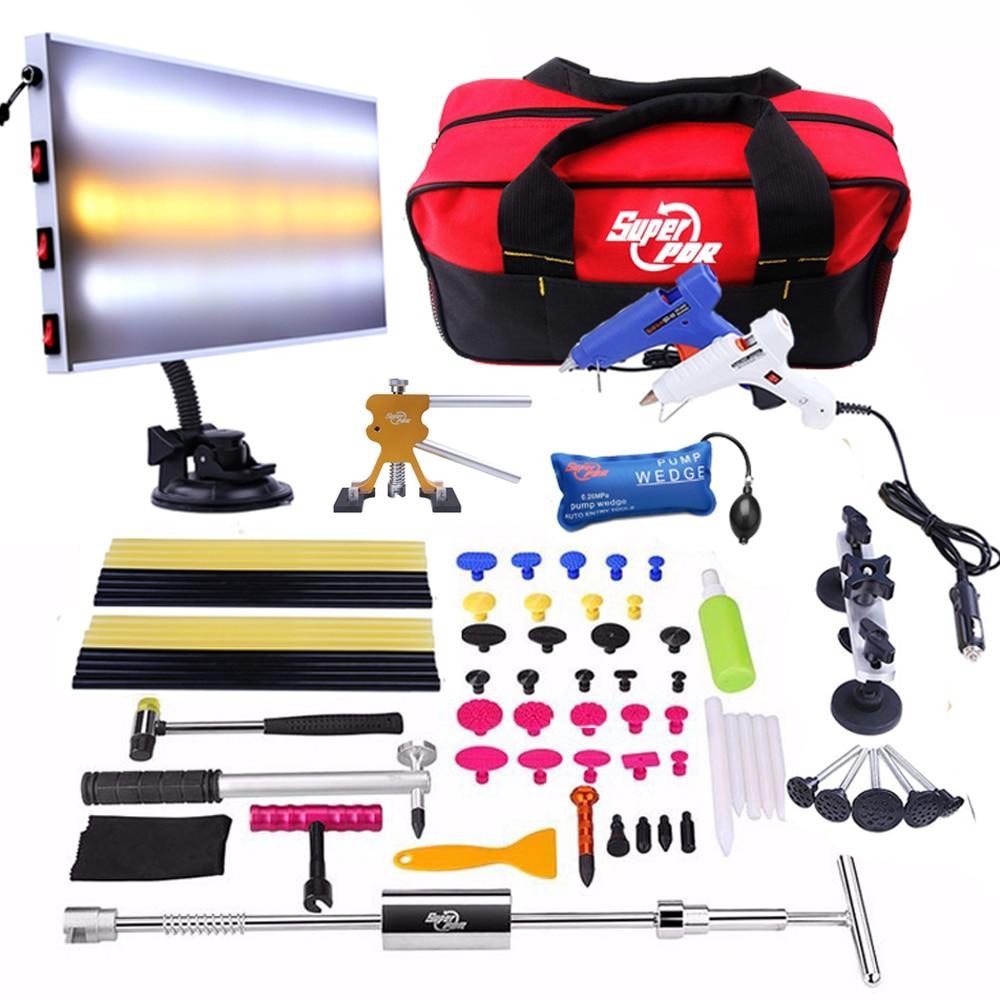 PDR įrankiai Dažymas be dažų Dent remontas skirtas pašalinti Dent Reverse Hammer LED lempos atšvaito plokštė Dent Praller automobilio įsiurbimo taurės remonto komplektas