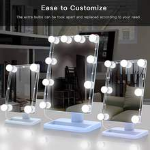 10pcs Hollywood LED Vanity Lights Mirror Lights Kit with Dimmable Light Bulbs Lighting Fixture Party for Makeup Vanity Table Set(China)