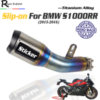 S1000RR Slip on Motorcycle Exhaust Pipe Escape Titanium alloy hande made muffler Burnt blue Dedicated for BMW S1000RR 2015 2016