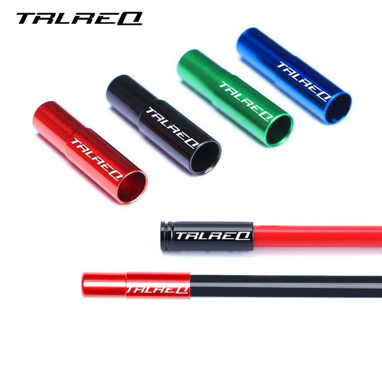 10 Piece TRLREQ Road Bicycle Brake Cable End 5 mm Aluminum 7075 CNC Bicycle Shift Cable Bar End Bike Accessory in Bicycle Brake from Sports Entertainment