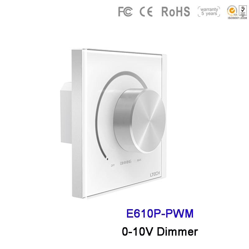 LTECH E610P-PWM support mural Led 10 V PWM gradateur AC110V 220 V haute tension 10 V PWM panneau de bouton de sortie 86mm 0-10 V contrôleur de commutateur