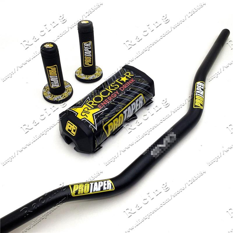 Rockstar Handlebar Pads PRO Taper Handle Grips CNC Handlebar Clamp Fat Bar 1-1/8