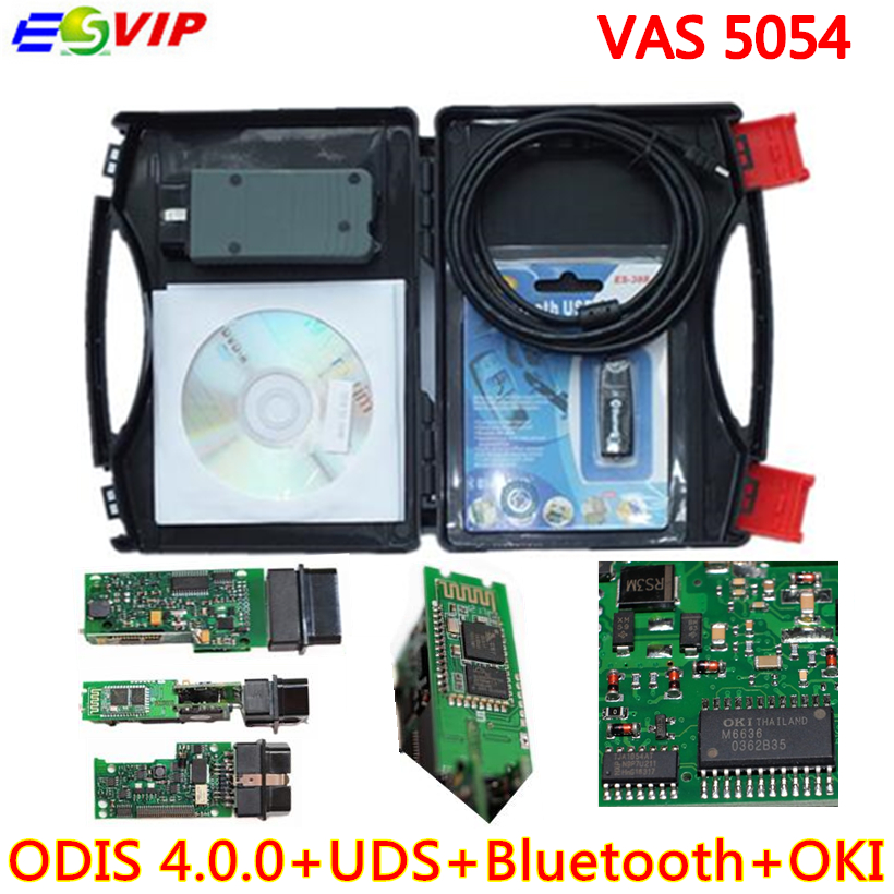 VAS 5054A Diagnostic Tool ODIS V3.0.3 Bluetooth Support UDS Protocol VAS5054A VAS5054 with OKI  Full chip Free Shipping new vas 5054 plus odis 3 03 bluetooth version with oki chip support uds protocol vas 5054a diagnostic scan tool for vag