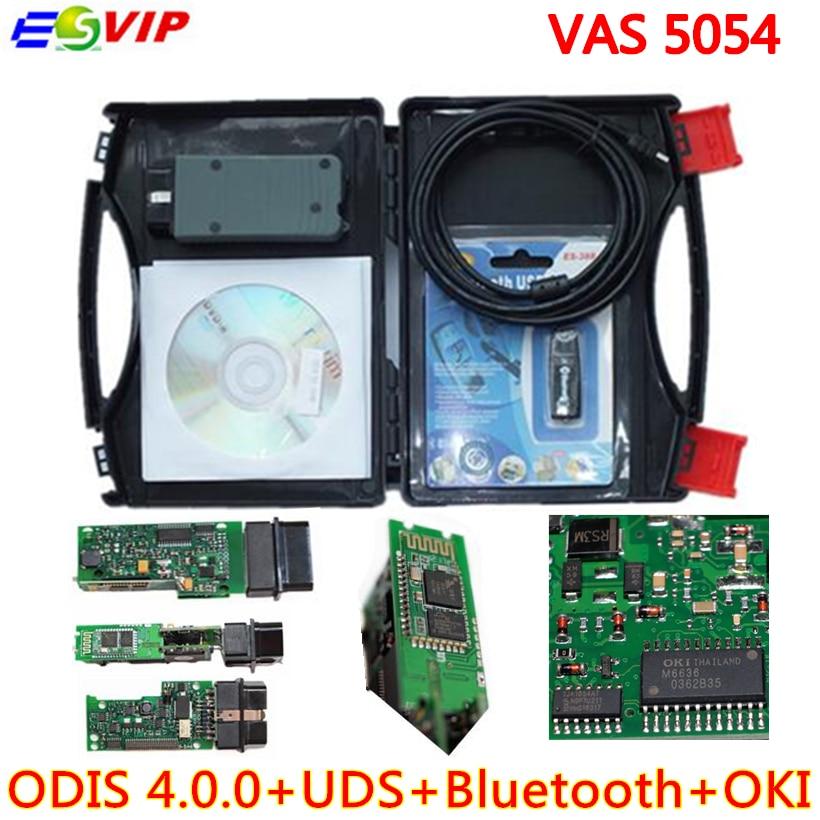 VAS 5054A Diagnostic Tool ODIS V3.0.3/V4.23 Bluetooth Support UDS Protocol VAS5054A VAS5054 with OKI Full chip Free Shipping