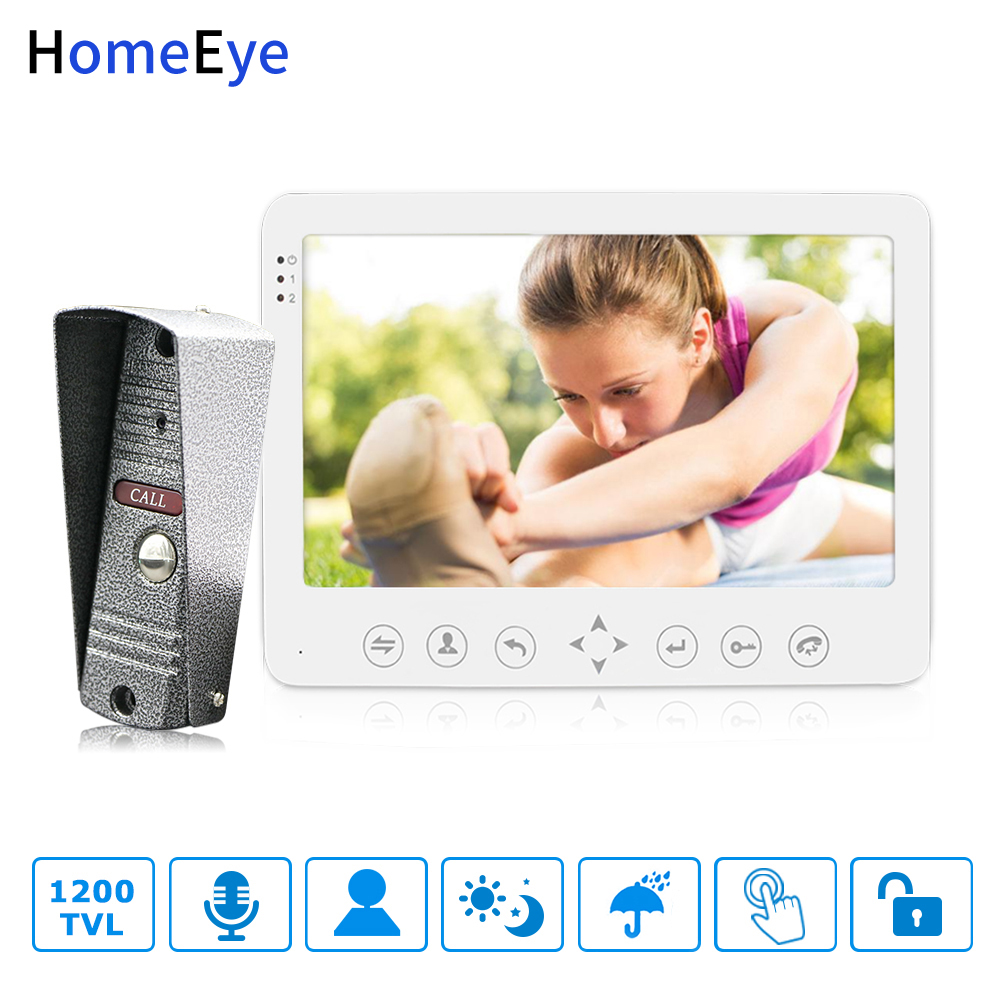 HomeEye 7inch Video Door Phone Video Intercom Doorbell 1200TVL IP65 Rainproof Motion Detection OSD Menu Security Access SystemHomeEye 7inch Video Door Phone Video Intercom Doorbell 1200TVL IP65 Rainproof Motion Detection OSD Menu Security Access System
