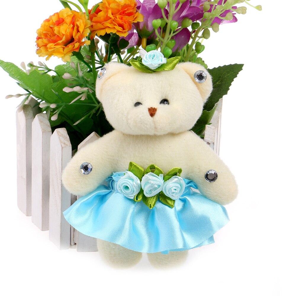 Small Flower Beaded Women Flower Bouquets Plush Toys Mini Model