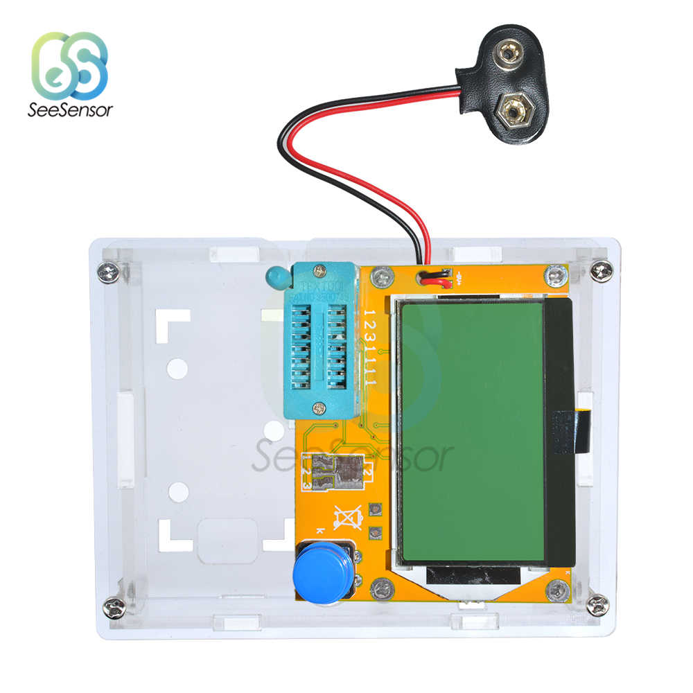 Transparan Acrylic Case Shell Kotak untuk LCR-T4 ESR Berdasarkan Transistor Penguji Kapasitansi