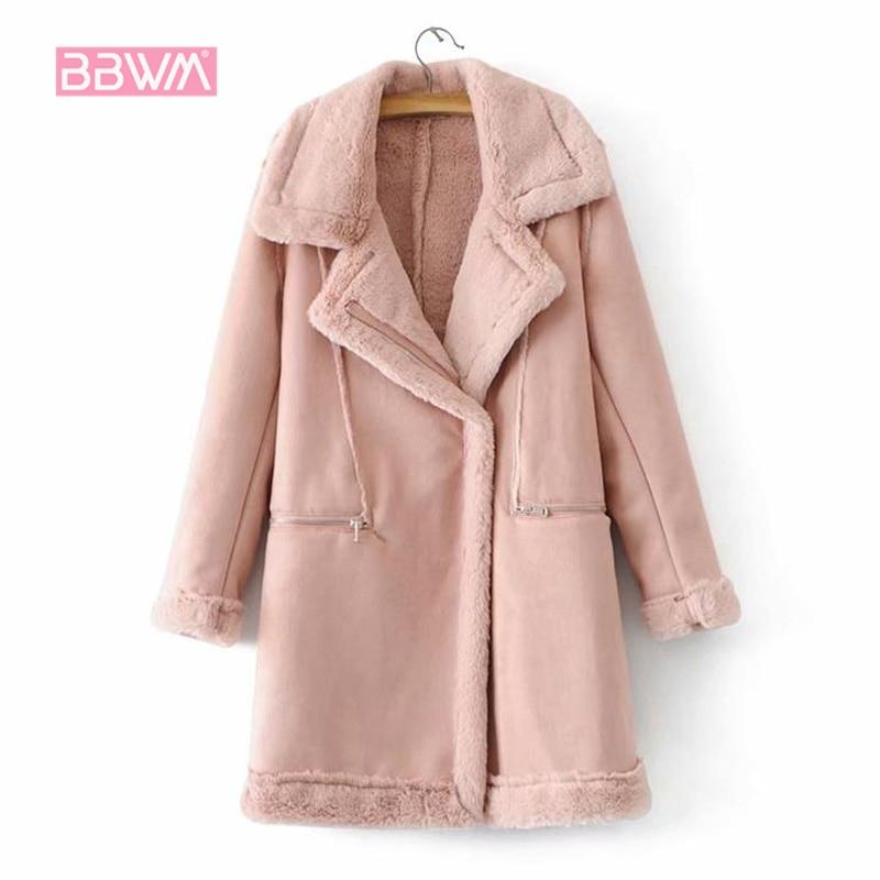 Warm women s 2018 winter Korean loose suede fur one coat women s jacket plus velvet