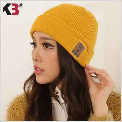 2016 Smart Wireless Invierno Cálido Beanie Gorro de lana de Punto Beanie Sombrero con Auriculares Manos Libres de Música Sombrero para Mujer hombres Smartphones