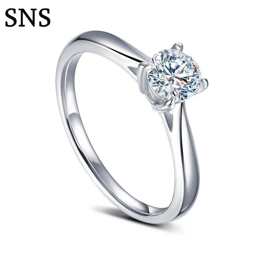 Classic 4-Prongs Setting Natural Diamond Engagement Ring Halo Style 0.3Carat 14k White GoldClassic 4-Prongs Setting Natural Diamond Engagement Ring Halo Style 0.3Carat 14k White Gold