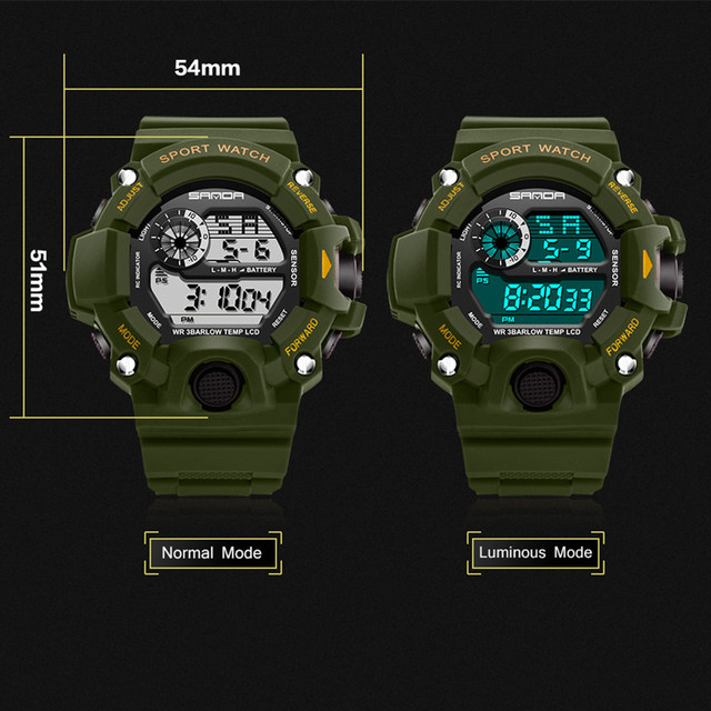 Kids Fashion Watch Fashion Led Digital Waterproof