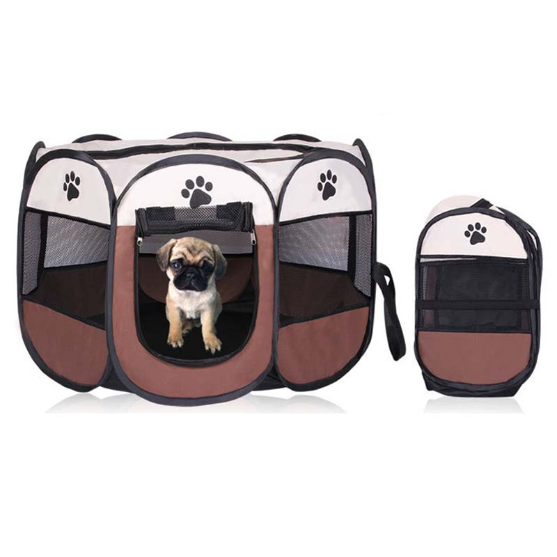 Aliexpress.com : Buy Portable Folding Pet Tent Playpen Dog Cat Fence Puppy  Kennel Easy Operation Exercise Play In House Or Outdoor Easy To Carry From  ...